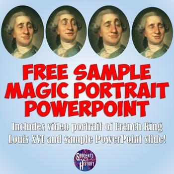 Louis XVI FREE Animated Harry Potter-style Magic Portrait