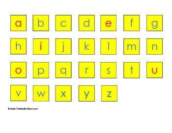 FREE Lowercase Letter Tiles