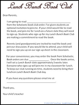 FREE - Lunch Bunch Book Club