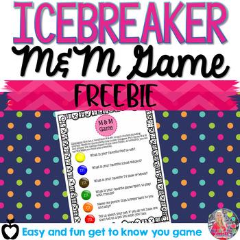 FREE M&M Icebreaker activity