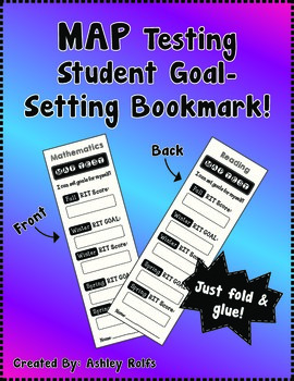 FREE MAP Test Goal-Setting Bookmarks!