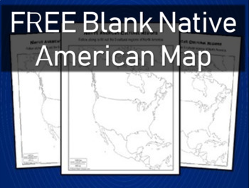 FREE MAP to be used with Native American PowerPoint