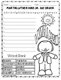 FREE MARTIN LUTHER KING ABC ORDER / MARTIN LUTHER KING ACTIVITIES