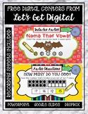 FREE MATH AND ELA INTERACTIVE DIGITAL TASK CARD CENTERS