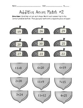 Math Worksheets fall math worksheets : FREE MATH Common Core - Fall math worksheets... by Kid's Math Talk ...