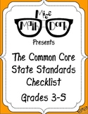 FREE: MATH Common Core State Standards 3-5 Checklist