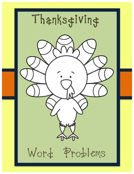 FREE MATH Common Core - Thanksgiving Word Problems
