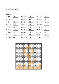 Calculate and color - Multiplying and dividing - For spring