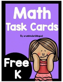 FREE MATH TASK CARDS Kindergarten