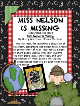 FREE MINI UNIT: Miss Nelson Is Missing ~ Ideas, Activities, Printables