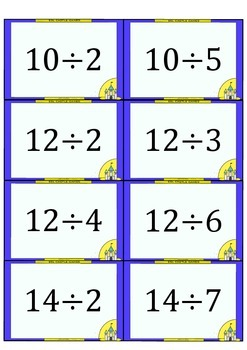 image about Division Flash Cards Printable identified as Free of charge MULTIPLICATION and Office Flashcards