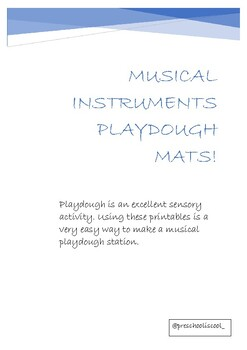 FREE! MUSICAL INSTRUMENTS PLAY DOUGH MATS!