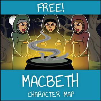 FREE Macbeth Character Map Worksheet