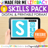 FREE Made For Me Literacy Skill Practice (Digital/Printabl