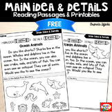 FREE Main Idea Passages & Printables