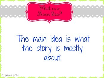 *FREE* Main Idea Powerpoint