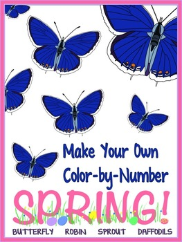 FREE Make Your Own Color By Number SPRING!