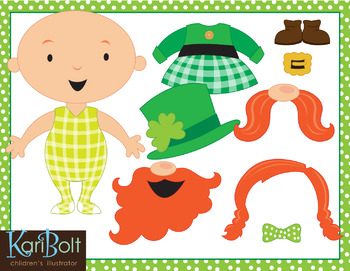 photograph about Free Printable Clipart for St Patrick's Day called Totally free Create Your Particular Leprechaun Printable