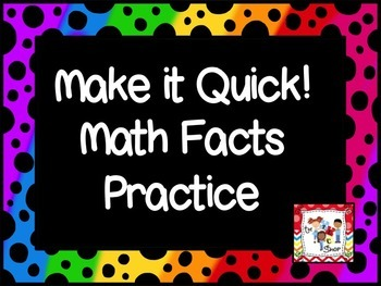 FREE! Make it Quick! Math Facts: Addition/Subtraction 0-5