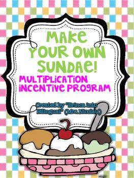 FREE Make your own Sundae - Multiplication Incentive Program