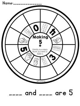 FREE Making 10 and Making 5 Wheels