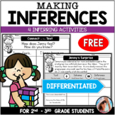 FREE Making Inferences Passages with Graphic Organizers