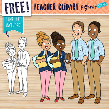 FREE Male and Female Teacher Clipart