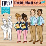 FREE Male and Female Teacher Clipart