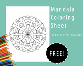 FREE Mandala Coloring Sheet Printable (active meditation and mindfulness)