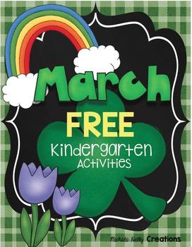 FREE March Activities - Kindergarten CCSS Aligned Centers
