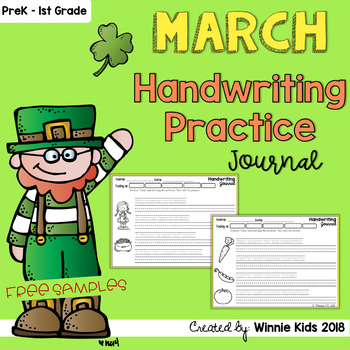 FREE March Handwriting Practice Journal