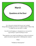 FREE March Questions at the Door (St. Patrick's Day/Spring