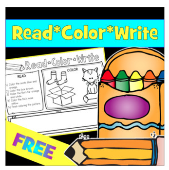 Reading Comprehension and Follow Directions - Read, Color, Write  Vol. 2