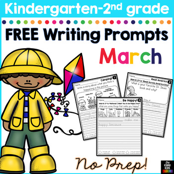 FREE March Writing Prompts for Kindergarten to Second Grade