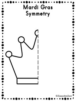 FREE Mardi Gras Symmetry Drawing Activity for Art and Math SAMPLE