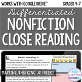 FREE Martin Luther King, Jr. Close Reading - Online/Distan