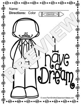 Martin Luther King, Jr. Day Coloring Pages Freebie