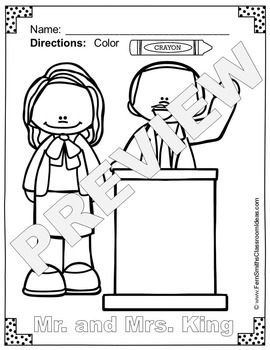 Martin Luther King, Jr. Day Coloring Pages Freebie | TpT