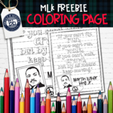 FREE Martin Luther King Jr Growth Mindset Coloring Page