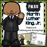 FREE Martin Luther King, Jr. Poster and Coloring/Tracing Page