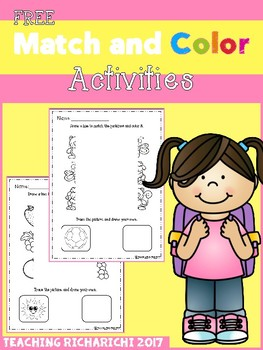 FREE Match and Color Activities