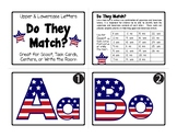 FREE Matching Upper & Lowercase Letters SCOOT, Task Cards, Write the Room