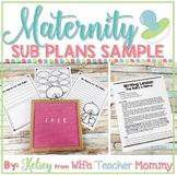 FREE Maternity Leave Sub Plan Lesson