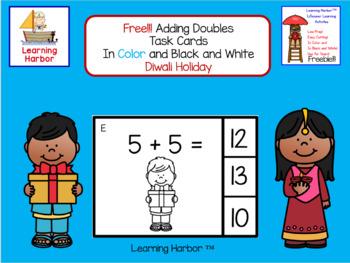 FREE!!! Math Adding Doubles Diwali Holiday Theme