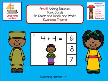 FREE!!! Math Adding Doubles Kwanzaa Theme
