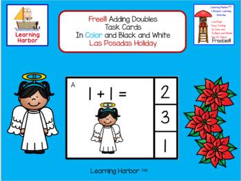 FREE!!! Math Adding Doubles Las Posadas Holiday Theme
