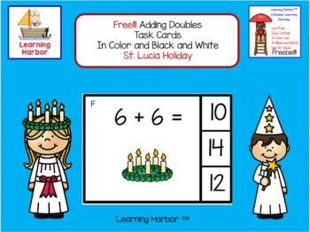FREE!!! Math Adding Doubles St. Lucia Theme