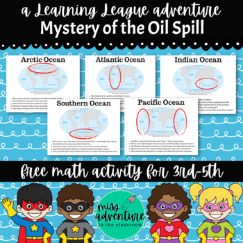 FREE Math Adventure- The Mystery of the Oil Spill