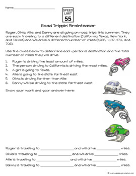 Math Challenges | Math Brain Teasers | Math Challenges or Enrichments FREE