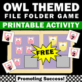 FREE File Folder Game for Special Education Distance Learning Math Packet